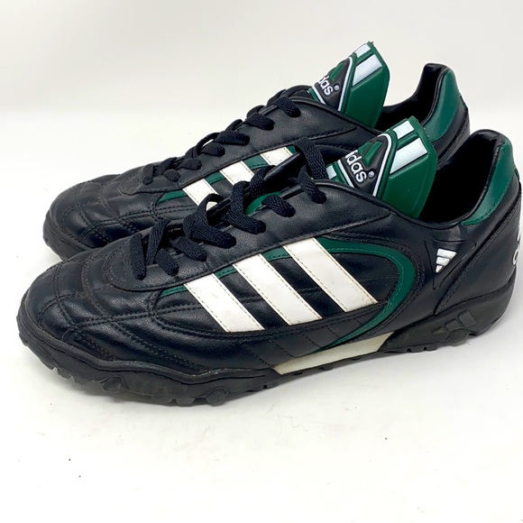Adidas Soccer Shoes Black Green White
